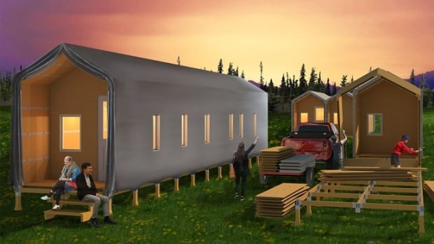 Tinderbox Wildfire Shelter Kits provide wildfire evacuees with temporary shelters that can be built in a day, the designer says.