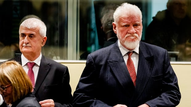 An autopsy performed on Slobodan Praljak, right, found cyanide in his body, which likely caused heart failure leading to his death.