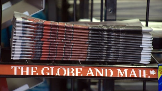 Globe and Mail stack