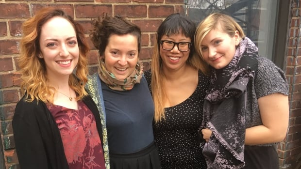Imago Theatre Company, which aims to promote women's stories in theatre and in the greater community, includes, left to right, Samantha Bitonti, Joy Ross-Jones, Sophie Gee and Erin Lindsay.
