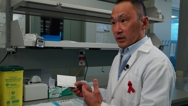 PHAC scientist John Kim and his team are training people in remote communities to collect blood in culturally appropriate ways, using a non-invasive technique known as dry blood spot collection.
