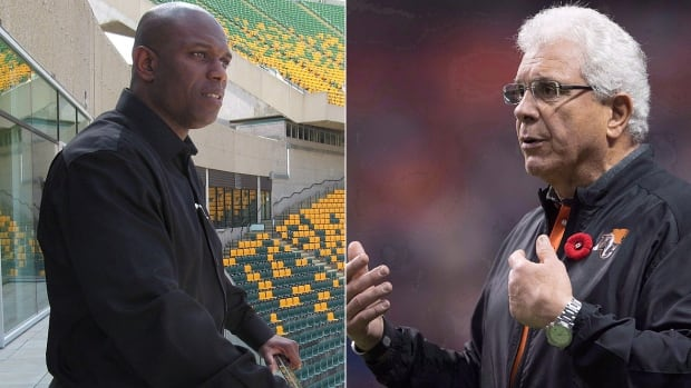 Fresh off a last-place finish in the West Division, the Lions have hired former Eskimos GM Ed Hervey, left, to the same post. The CFL club also said Thursday that Wally Buono, right, will coach his final season in 2018.