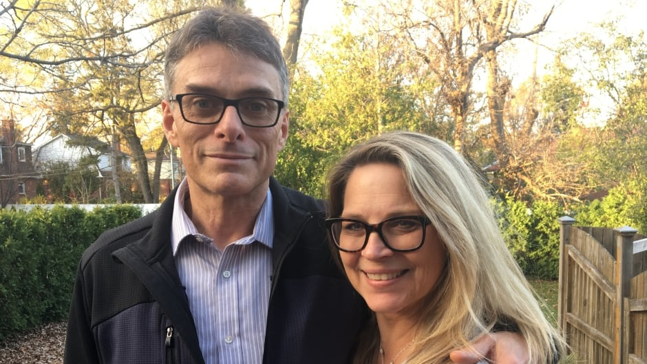 David Jantzik and his wife Joanne Padvaiskas, at home in Pointe-Claire, Quebec.