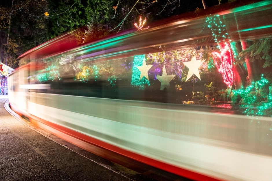 Bright Nights Christmas Train in Stanley Park