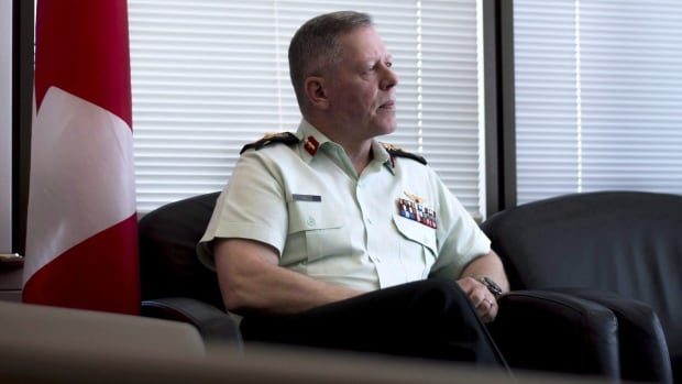 Chief of the Defence Staff Gen. Jonathan Vance is shown in his office in Ottawa on June 8. While the Canadian military is preparing to work with the U.S. on upgrading North America's aging defences, Canada's top general says there have been absolutely no talks about joining its ballistic-missile shield program.