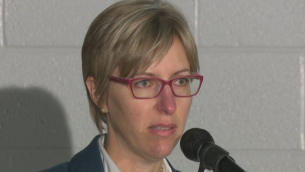 'Build the Barrier' organizer Alysson Storey tearfully addressed the crowd on behalf of her loved ones who lost their lives in Hwy. 401 accidents.