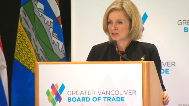 Alberta Premier Rachel Notley brought her pro-pipeline to Vancouver, where she was met by protesters.
