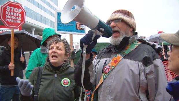 Kinder Morgan protesters Vancouver Nov. 30