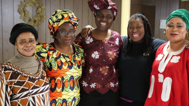 "Olafunke Albi, left, Funke Sabageh, Abiola Afolabi, Angelina Ebegbuzie and Sijuola Folarin are involved in organizing this Sunday's ""Taste of Nigeria"" event in Windsor."