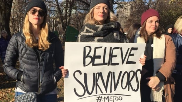 Hundreds of people shared their experiences as survivors of sexual harassment and assault at Toronto's #MeToo march on Saturday.