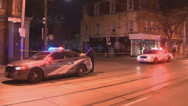 At least six people were injured in an incident involving a stabbing on Queen Street West and Ossington Avenue early Saturday, Toronto police say.