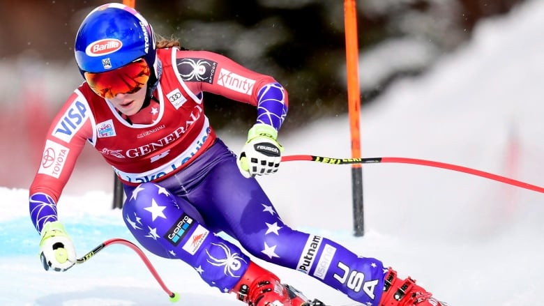 American Mikaela Shiffrin earns 1st World Cup downhill victory in Lake Louise