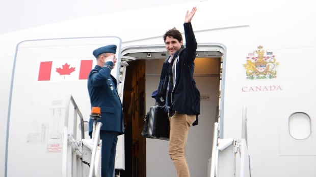 Canadian Prime Minister Justin Trudeau departs from Vancouver en route to China on Saturday.