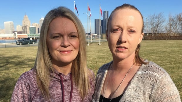 Amy Osborn and Mary-Joe from Windsor were inside the Detroit Institute of Arts when gun shots rang outside the building.