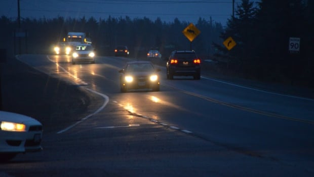 Early morning commuters travel through Markstay on Highway 17 on their way into work in Greater Sudbury.