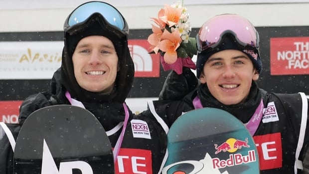 Canada's Max Parrot, left, and Mark McMorris are two of the world's top snowboarders, but that doesn't mean they go about it the same way.