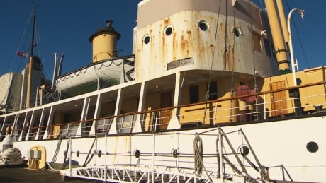 the only ship still afloat that survived the halifax explosion is rusting away
