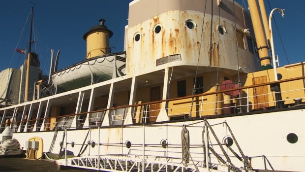 CSS Acadia is rusting.