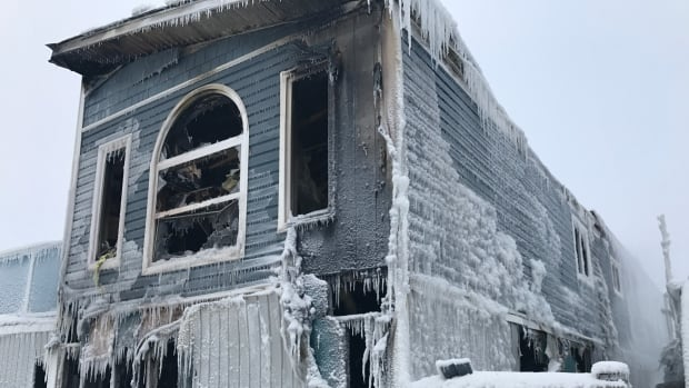 The city says the fire on Jeske Crescent was a 'full group alert,' with all off-duty and on-call firefighters called to the scene. Fifteen firefighters battled the fire in the –30 C temperatures.