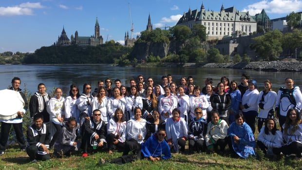 Students attending Nunavut Sivuniksavut in Ottawa by the Ottawa River. Thanks to some new funding, the college may soon be able to secure a residence building for its students.