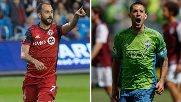 Neither Toronto FC midfielder Victor Vazquez, left, or Seattle forward Clint Dempsey, right, played in last year's MLS Cup final.