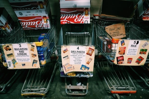 Shopping carts at the London Food Bank