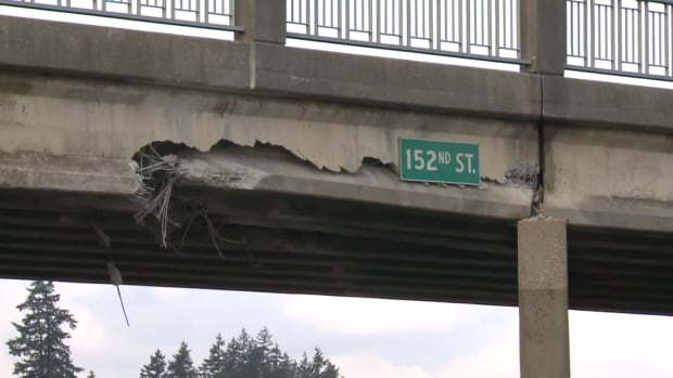 Repairs to the overpass are expected to be complete in April.