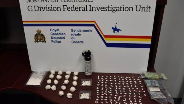 These drugs were seized following a tip about human trafficking and drug trafficking in Yellowknife.