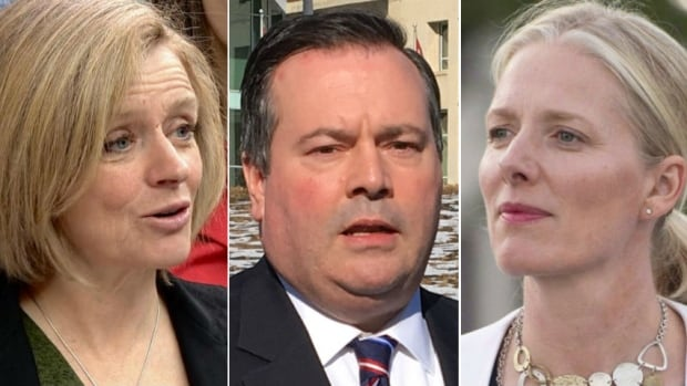 These three politicians have recently been involved in incidents inflammed by sexist language. From left: Alberta Premier Rachel Notley, UCP Leader Jason Kenney and federal Minister of Environment and Climate Change Catherine McKenna.