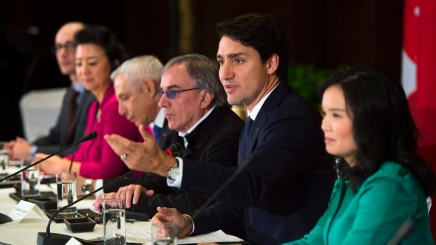 Trudeau took part in a business round table in Beijing on Tuesday.