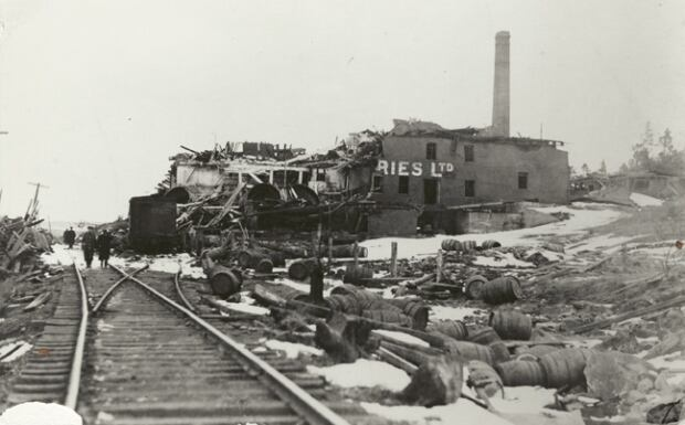 Army & Navy Brewery after Halifax Explosion