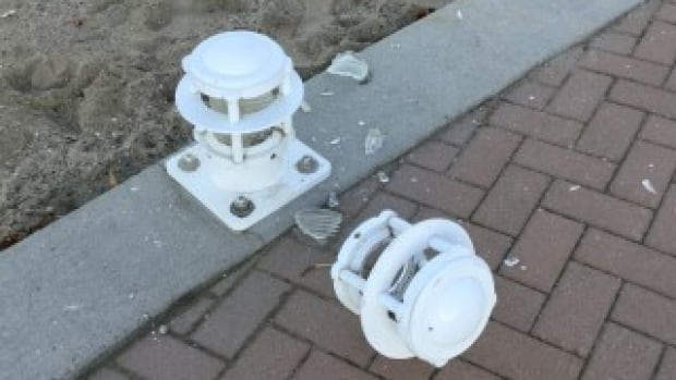 Vandals damaged 23 lights on Nov. 28 and another 18 on Dec. 2, 2017.