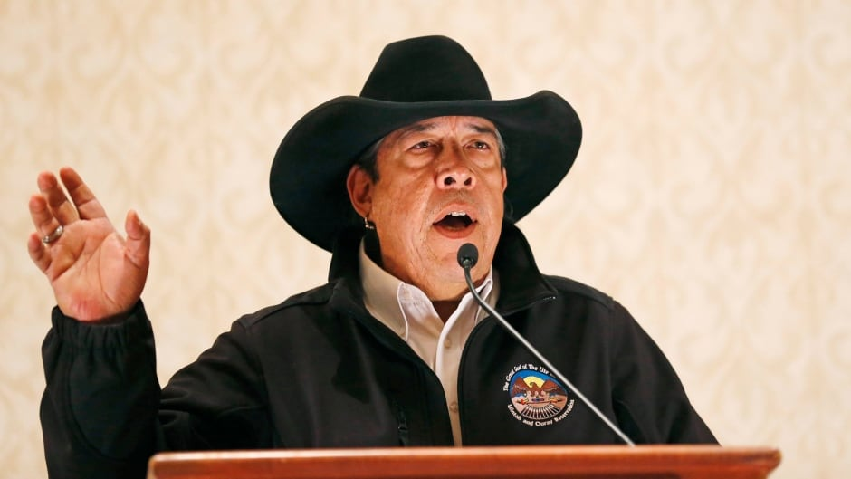 Shaun Chapoose with the Ute Indian Tribe says U.S. President Donald Trump's decision to reduce the size of Bears Ears and Grand Staircase-Escalante national monuments benefits 'a few powerful Utah politicians.'