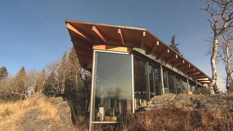 The 1-bedroom, 1.5-bathroom Rock House tucked away in the Foothills west of  Calgary is listed for $2,890,000, with 704 square feet of living space.
