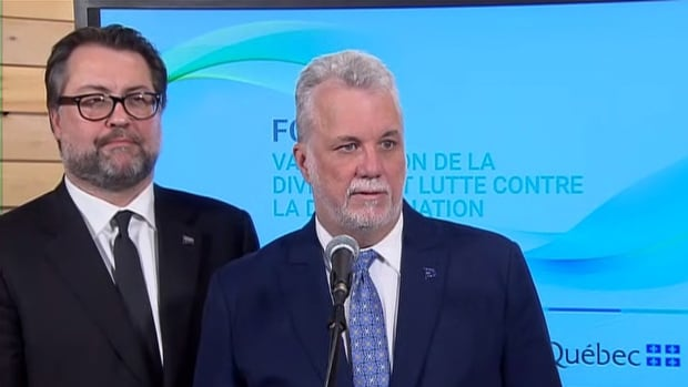 Premier Philippe Couillard and Immigration Minister David Heurtel said the priority of the day's forum was discussing employment opportunities for immigrants.