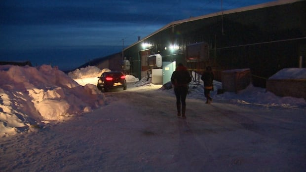 Iqaluit residents pick up their parcels at the new location, 1057 Mivvik Street, across from the Navigator Inn.