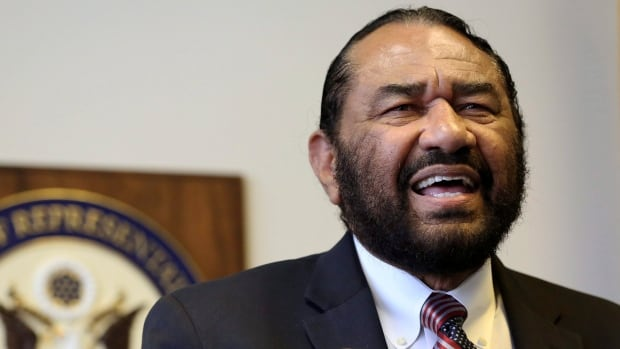 Democrat Al Green of Texas put forward a bid to impeach U.S. President Donald Trump, saying in a letter that 'we now have a bigot in the White House who incites hatred and hostility.'