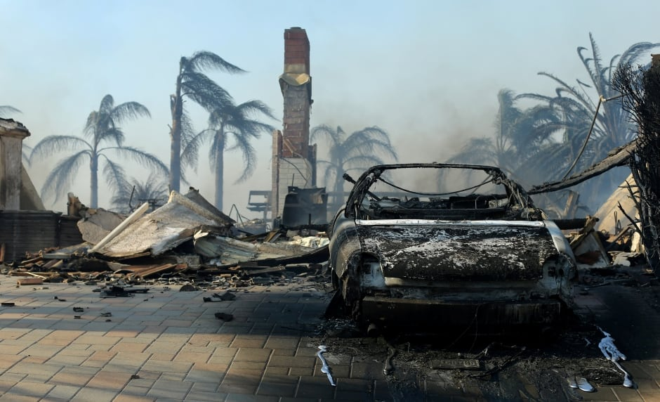 California WILDFIRES remains of a home are seen after it burned