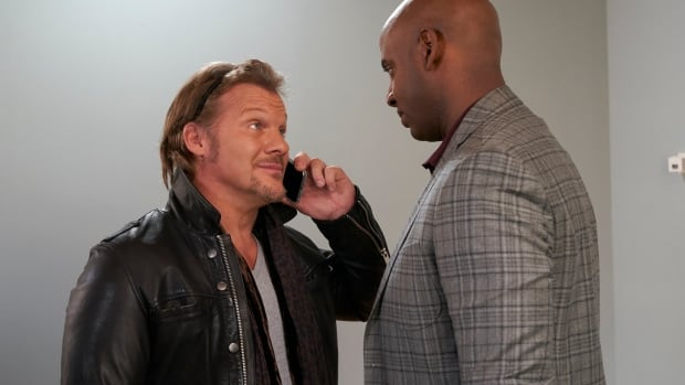 Chris Jericho, left, and Alex Spencer appear in an episode of But I'm Chris Jericho! The comedy series debuts its second season this week on CBC.