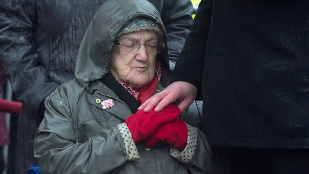 One-hundred-year-old Cecelia Coolen attended Wednesday's ceremony marking the 100th anniversary of the Halifax Explosion at Fort Needham Memorial Park. She was just 10 days old on Dec. 6, 1917.