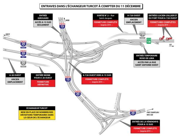 turcot interchange closures starting dec. 11