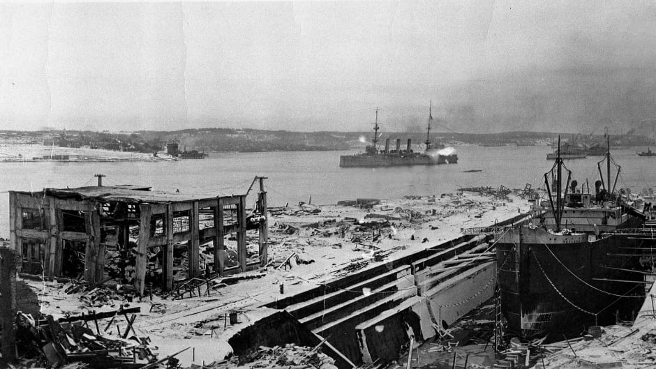 A view of Halifax after the disaster, looking south, on Dec. 6, 1917.
