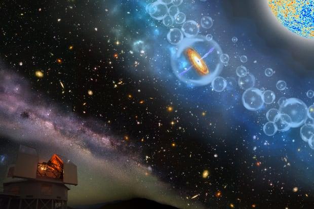 Most distant supermassive black hole