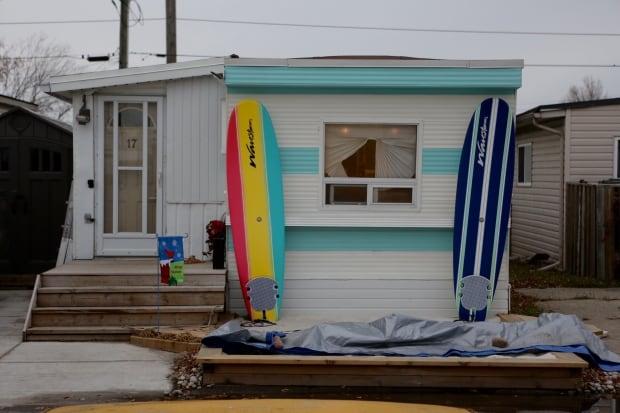 surf board mobile homes