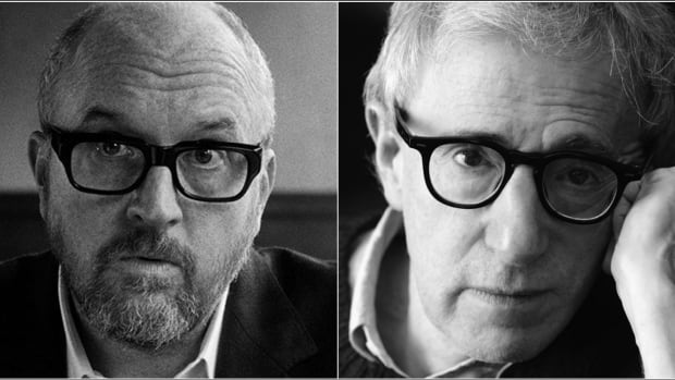 Recent films made by Louis C.K., left, and Woody Allen raise questions about art made by less-than admirable artists.
