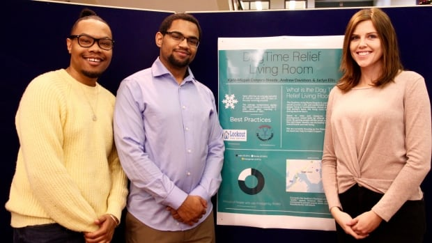 Kjeld Mizpah Conyers-Steede, Andrew Davidson and Jacqueline Ellis were one of six groups of UNB Saint John students who presented their projects on 'tactical urbanism' — exploring how cities like Saint John can change for the better with minimal monetary investment.