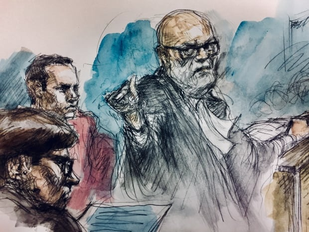 Dungey court sketch Babcock trial