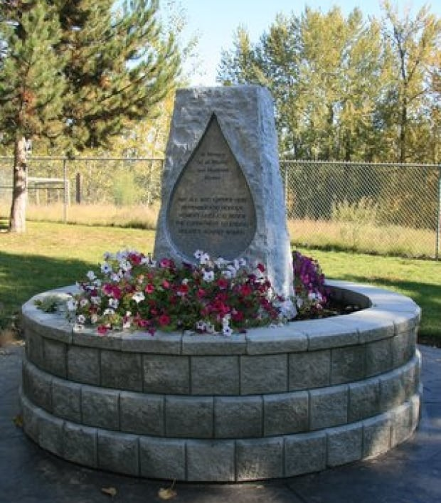 Quesnel monument missing and murdered