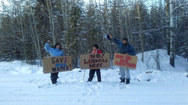 A protest is planned in the community of Conklin on Thursday outside an open house for a proposed oilsands landfill about two kilometres from the community.