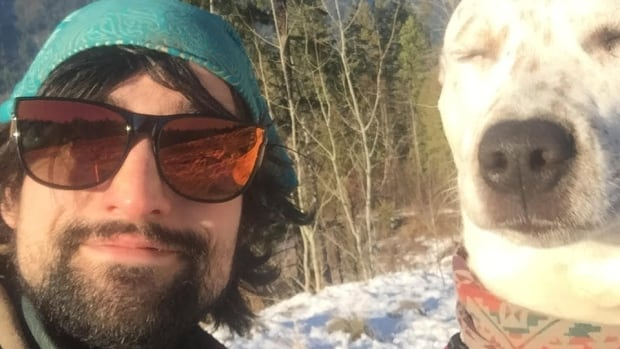 Bryan Robson, 26, formerly a student of medicine at the University of Saskatchewan, says he now finds peace and serenity from his mental illness by living with his dog, Nahla, in B.C. He's been sued by Royal Bank for repayment of $170,000 he borrowed on a line of credit as a student, but recently rejected the bank's settlement offer to pay back $17,000.